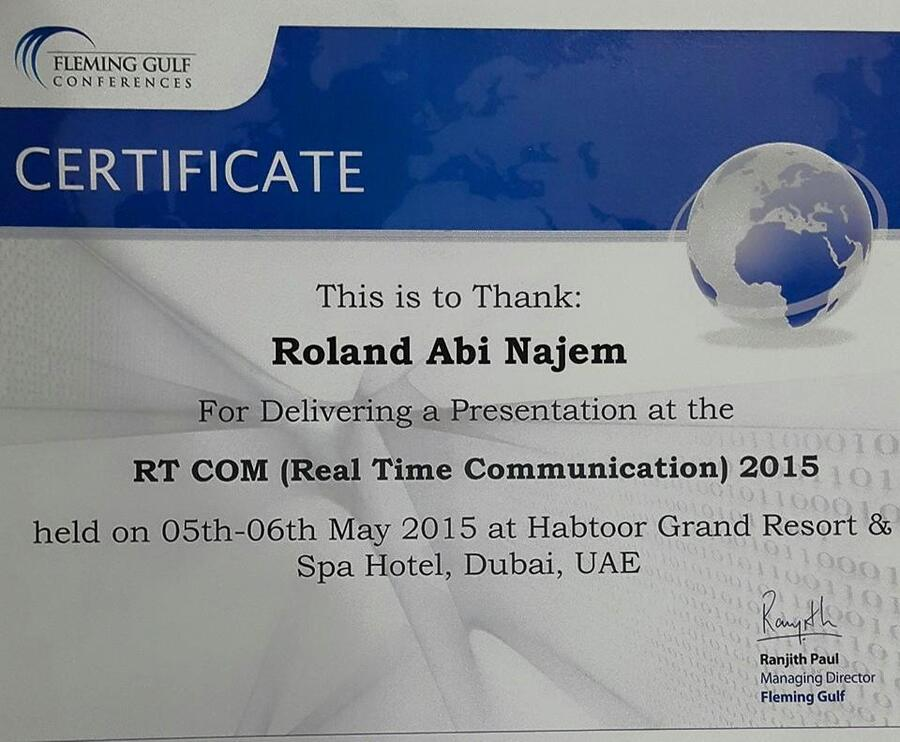 roland-abi-najem-certificate-real-time-communication-dubai-fleming-gulf