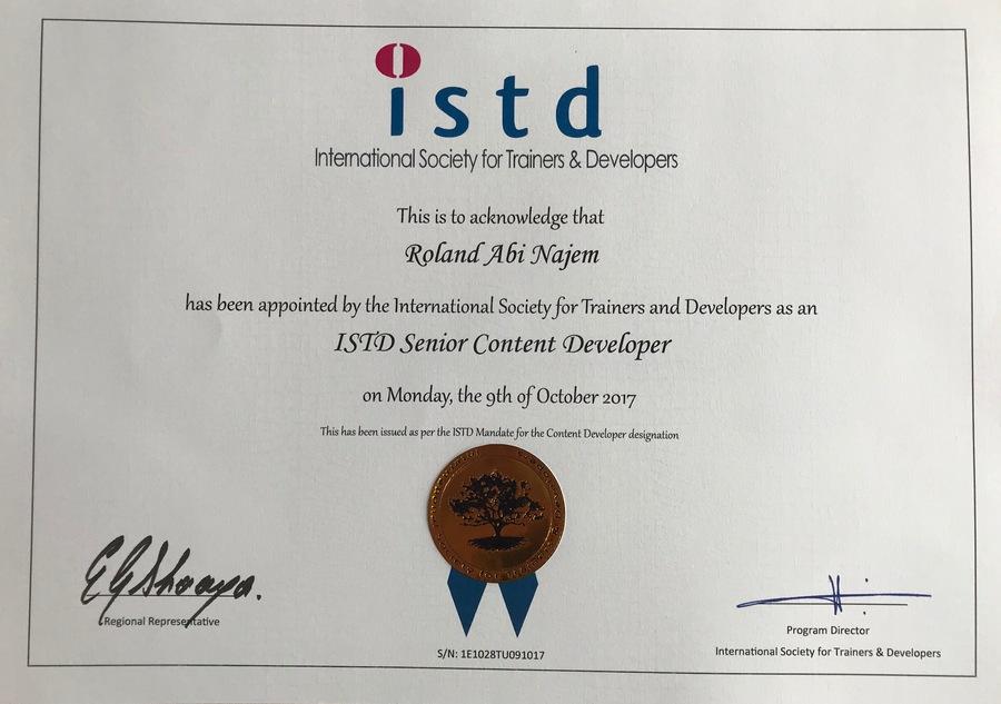 roland-abi-najem-istd-certified-content-developer