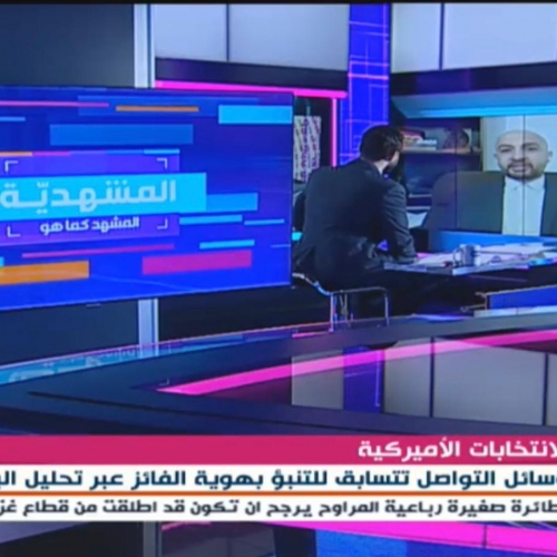 My Interview on Almayadin TV to discuss if Social Media Data Can Predict the Winner of the 2020 US Presidential Election