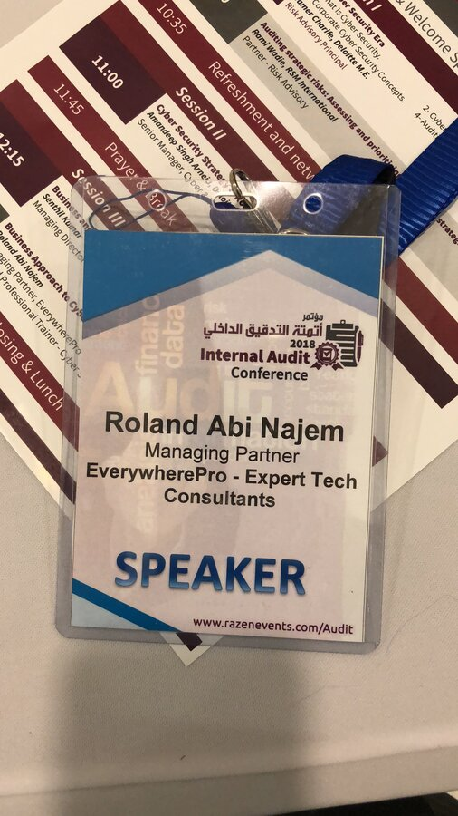 My Speech at the Cyber Security and Role of Internal Audit