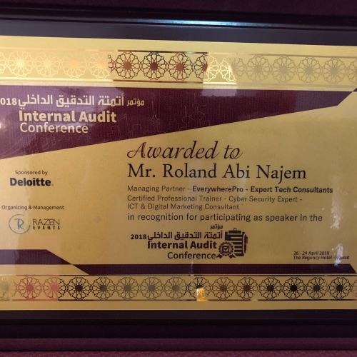 roland-abi-najem-speech-at-the-cyber-security-and-role-of-internal-audit-during-which-i-was-honored-14