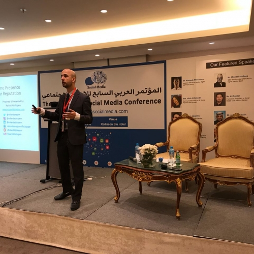 Speech in the 7th Arabian Social Media Forum in Kuwait  May 2018